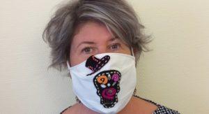 Kif ton mask, Marion Boutet porte son masque Mexico
